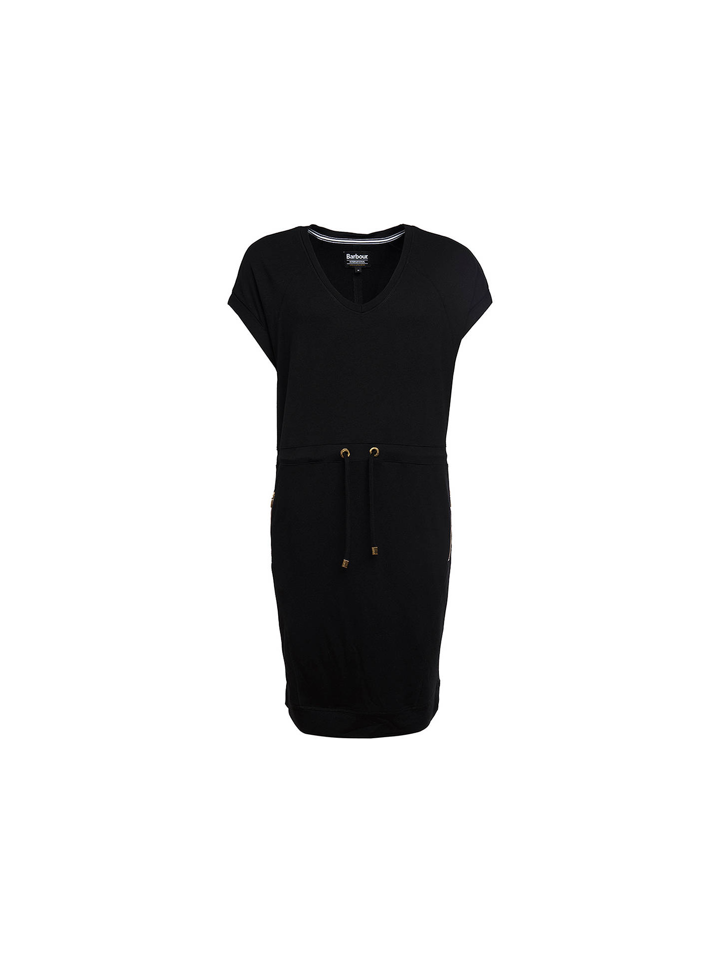 BuyBarbour International Jersey Tunic Dress, Black, 8 Online at johnlewis.com