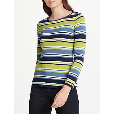Seasalt Brill Stripe Cotton Jumper, Esker Seagreen
