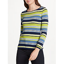 Buy Seasalt Brill Stripe Cotton Jumper, Esker Seagreen Online at johnlewis.com