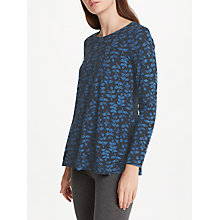Buy Seasalt Carved Floral Jersey Top, Crayon Seedling Dark Night Online at johnlewis.com