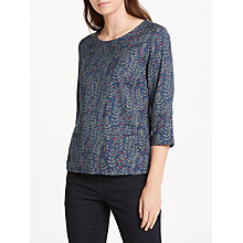 Buy Seasalt Line Art Top, Spring Leaves Night Online at johnlewis.com