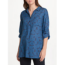 Buy Seasalt Polpeor Shirt, Lemon Stamp Night Online at johnlewis.com