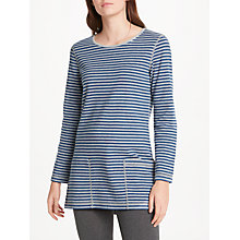 Buy Seasalt Henon Reversible Tunic Top, Riverflow Night Wine Online at johnlewis.com