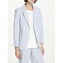 Buy Weekend MaxMara Cotton Seersucker Jacket, Ultra Marine Online at johnlewis.com