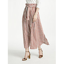 Buy Weekend MaxMara Cotton Stripe Skirt, Brown Online at johnlewis.com