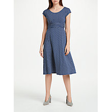 Buy Weekend Max Mara Jersey Eye Print Wrap Dress, Marine Online at johnlewis.com