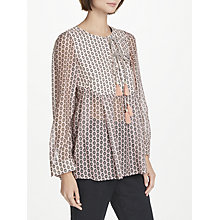 Buy Weekend MaxMara Eye Print Shirt, Pink Online at johnlewis.com
