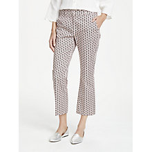 Buy Weekend MaxMara Neottia Eye Print Trousers, Pink/Multi Online at johnlewis.com