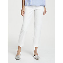 Buy Weekend MaxMara Cotton Trousers, White Online at johnlewis.com