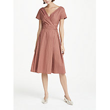 Buy Weekend MaxMara Eye Print Wrap Dress, Brown Online at johnlewis.com
