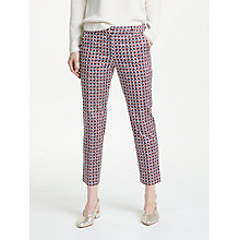 Buy Weekend MaxMara Cico Cotton Satin Trousers, Brown Online at johnlewis.com