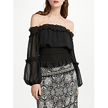 Buy Max Studio Off-Shoulder Blouse Top, Black Online at johnlewis.com