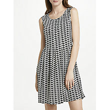 Buy Max Studio Sleeveless Printed Jersey Dress, Black/White Online at johnlewis.com