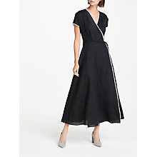 Buy Weekend MaxMara Linen Wrap Dress, Dress Online at johnlewis.com