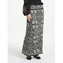 Buy Max Studio Printed Jersey Maxi Skirt, Black Online at johnlewis.com