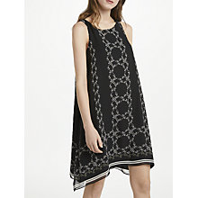 Buy Max Studio Floral Chain Print Dress, Black/Blush Online at johnlewis.com