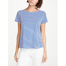 Buy Weekend MaxMara Stripe Jersey Top, Cornflower Blue Online at johnlewis.com
