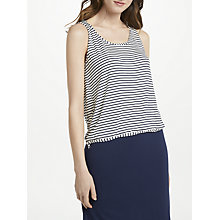 Buy Max Studio Sleeveless Stripe Jersey Top, Navy/White Online at johnlewis.com