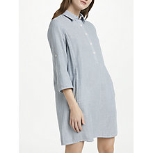 Buy Max Studio Ticking Stripe Shirt Dress, Chambray Online at johnlewis.com