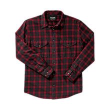 Buy Filson Lightweight Alaskan Guide Shirt, Black/Red Online at johnlewis.com