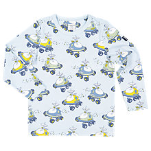 Buy Polarn O. Pyret Children's All-Over Space Top, Blue Online at johnlewis.com