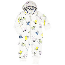Buy Polarn O. Pyret Baby Bee Overall, White Online at johnlewis.com