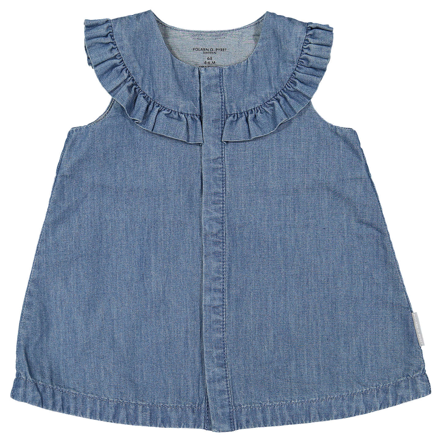 Polarn O Pyret Baby Denim Dress Denim at John Lewis