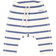 Buy Polarn O. Pyret Baby Stripe Trousers, White Online at johnlewis.com