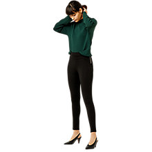 Buy Warehouse Zip Side Ponte Legging, Black Online at johnlewis.com