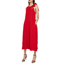Buy French Connection Hiva Crepe Jumpsuit, Blazer Red Online at johnlewis.com