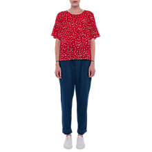 Buy French Connection Komo Top, Red Online at johnlewis.com