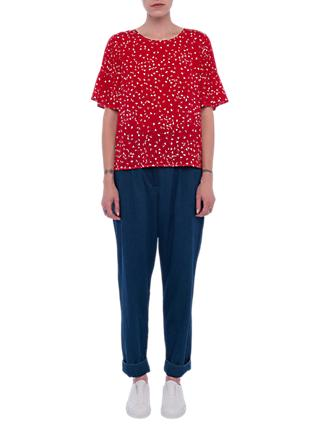 French Connection Komo Top, Red