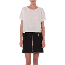 Buy French Connection Glass Stretch Mini Skirt, Black Online at johnlewis.com