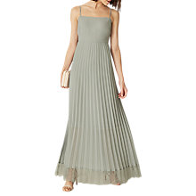 Buy Phase Eight Sabrina Lace Pleated Maxi Dress, Duck Egg Online at johnlewis.com
