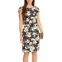 Buy Phase Eight Delilah Double Layered Dress, Navy/Multi Online at johnlewis.com