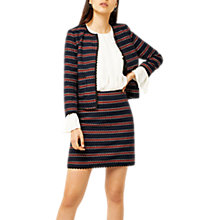 Buy Warehouse Bridget Skirt, Blue Stripe Online at johnlewis.com