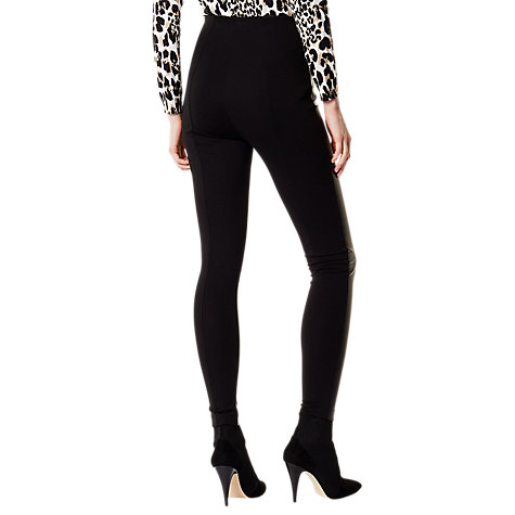 Buy Karen Millen Faux Leather Leggings, Black Online at johnlewis.com