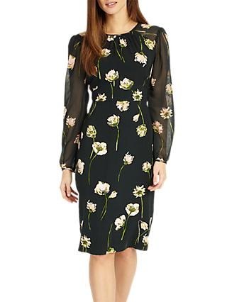 Phase Eight Sorina Printed Floral Dress, Peacock