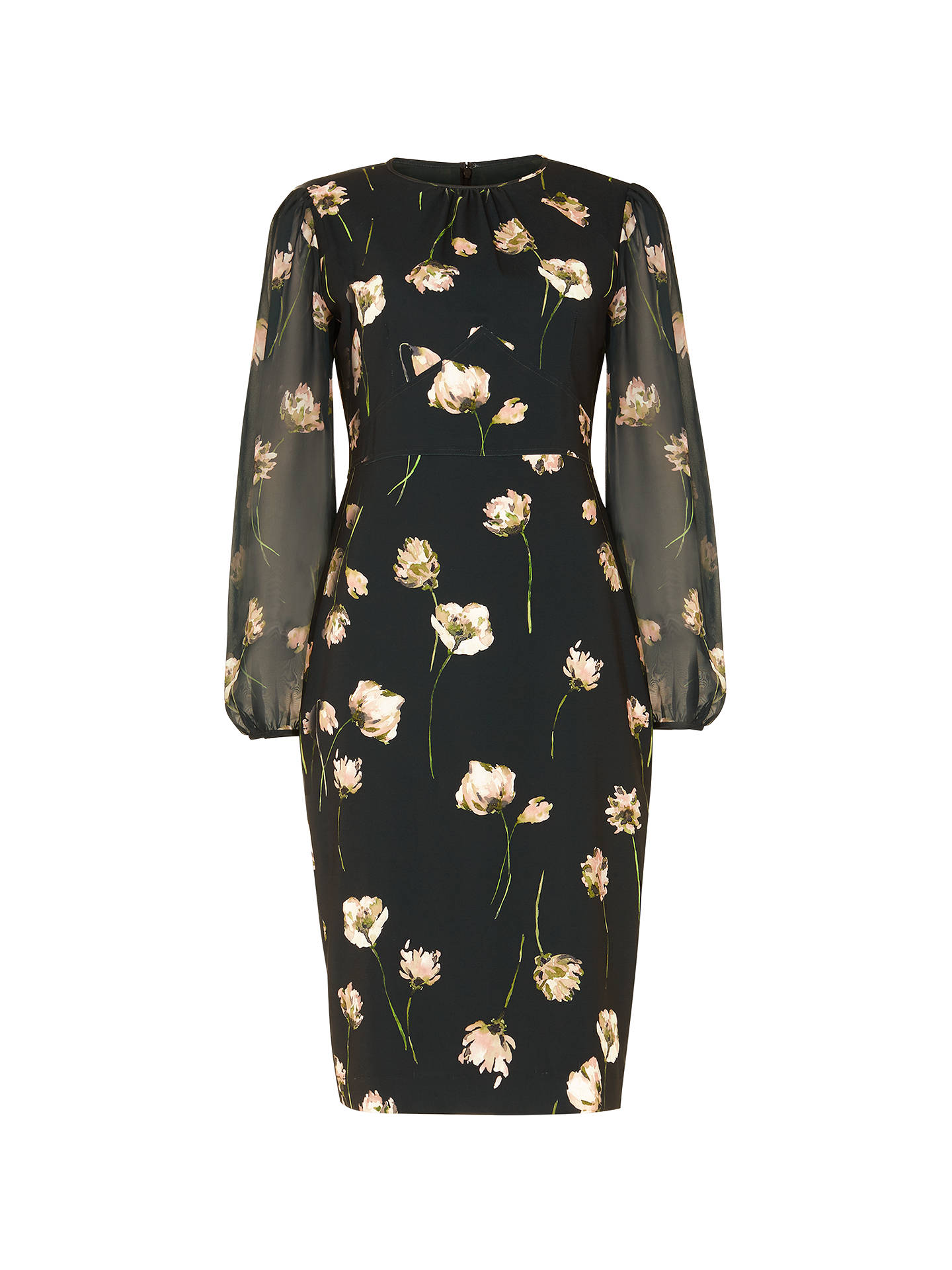 BuyPhase Eight Sorina Printed Floral Dress, Peacock, 12 Online at johnlewis.com