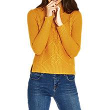 Buy Oasis Cable Knit Jumper, Bright Yellow Online at johnlewis.com