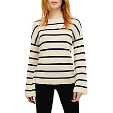Buy Phase Eight Bernelle Stripe Flared Sleeve Jumper, Ivory/Navy Online at johnlewis.com