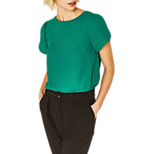 Buy Oasis Petal Sleeve T-Shirt, Mid Green Online at johnlewis.com