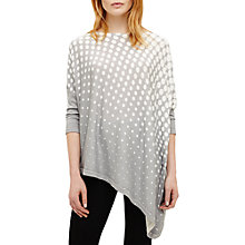 Buy Phase Eight Melinda Graduated Spot Asymmetric Jumper, Grey/Cream Online at johnlewis.com