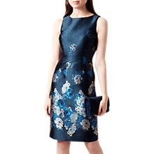 Buy Hobbs Yen Dress, Navy/Multi Online at johnlewis.com