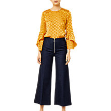 Buy Warehouse Jacquard Spot Top Online at johnlewis.com