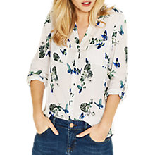 Buy Oasis Butterfly Print Shirt, Multi Online at johnlewis.com