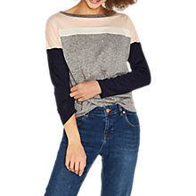Buy Oasis Colourblock Sweatshirt, Multi/Grey Online at johnlewis.com