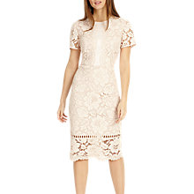 Buy Phase Eight Darena Lace Dress, Pink Online at johnlewis.com