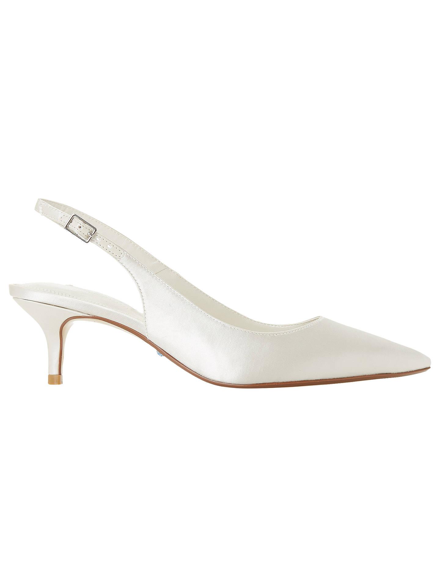 BuyDune Bridal Casandraa Kitten Heel Slingback Court Shoes de87ae29a76da