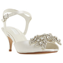 Buy Dune Bridal Collection Majestie Kitten Heel Sandals, Ivory Satin Online at johnlewis.com